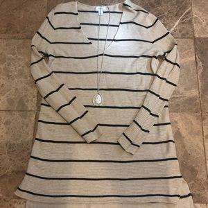 V-neck Tunic Sweater